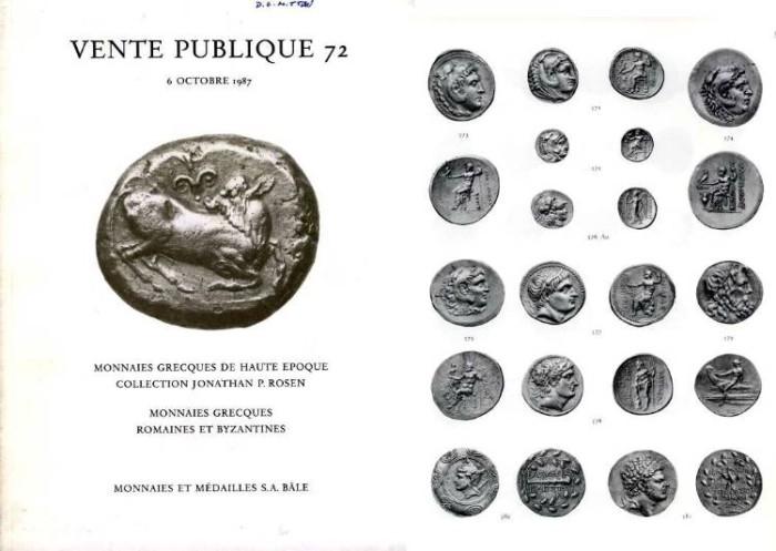 Ancient Coins - Jonathan Rosen Sale, Monnaies et Medailles No. 72