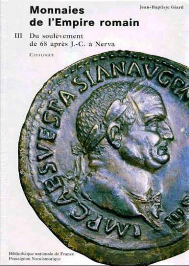 Ancient Coins - Giard: MONNAIES DE L'EMPIRE ROMAIN, Bibliotheque Nationale, VOL. III