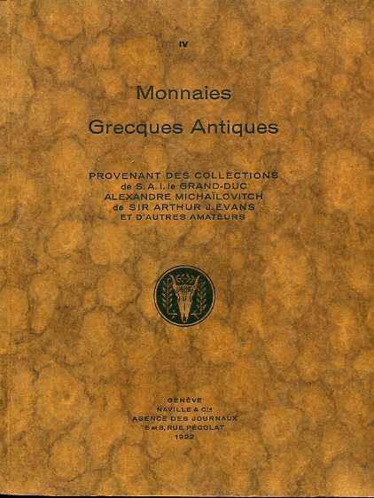 Ancient Coins - ARS CLASSICA IV. MONNAIES GRECQUES ANTIQUES PROVENANT LES COLLECTIONS GRAND-DUC MICHAILOVITCH ET SIR ARTHUR EVANS