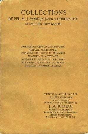 World Coins - Schulman. Collections de Feu Hirdijk, Dordrecht et al