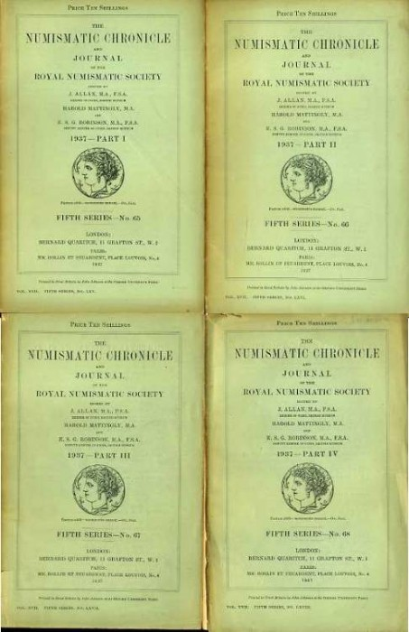 Ancient Coins - Numismatic Chronicle 1937