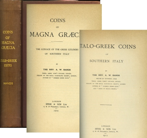 Ancient Coins - Hands: Coins of Magna Græcia [and] Italo-Greek Coins of Southern Italy