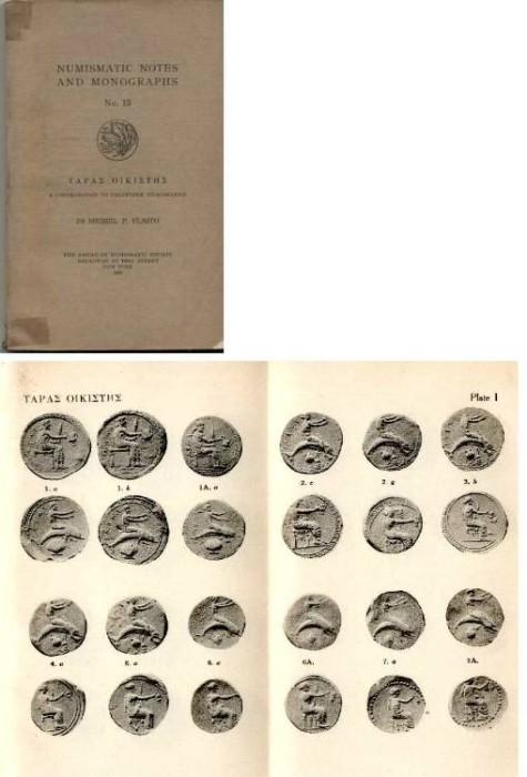 Ancient Coins - NNM  15. Vlasto TAPAE OIKIETHE. A Contribution to Tarantine Numismatics,