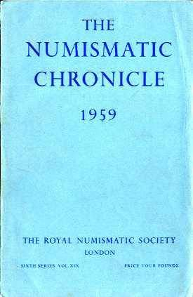 Ancient Coins - NUMISMATIC CHRONICLE 1959