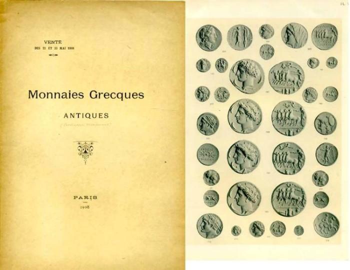 Ancient Coins - Rollin & Feuardent: Monnaies Grecques Antiques, 1908