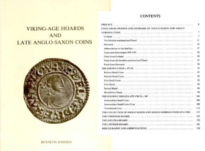World Coins - Jonsson: VIKING AGE HOARDS AND LATE ANGLO SAXON COINS. A Study in Honour of Bror Emil Hildebrand's Anglosachsiska Mynt
