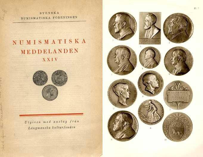 World Coins - NUMISMATISKA MEDDELANDEN XXIV (DESCRUPTION DE MEDAILLES COMMEMORATIVES DE PERSONNES PRIVEES SUEDOISES)