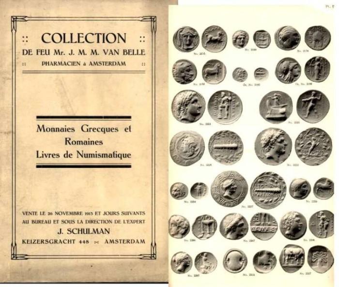 Ancient Coins - Schulman Sale, Nov 1913, van Belle Greek & Roman