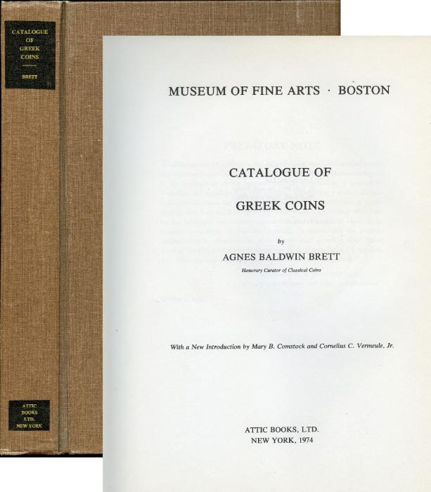 Ancient Coins - Brett: Catalogue of Greek Coins in the Museum of Fine Arts, Boston