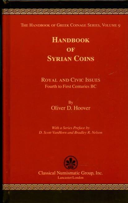 Ancient Coins - Hoover:  9. Handbook of Syrian Coins. Royal and Civic Issues 4th to 1st Centuries BC