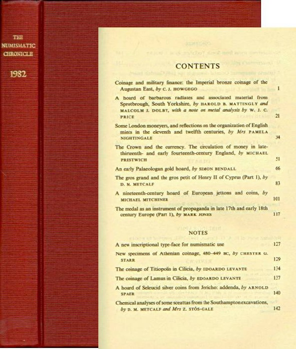 Ancient Coins - Numismatic Chronicle 1982