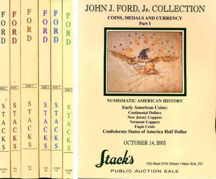 Ancient Coins - COMPLETE SET OF 6 - THE JOHN J. FORD, JR. COLLECTION: COINS, MEDALS AND CURRENCY