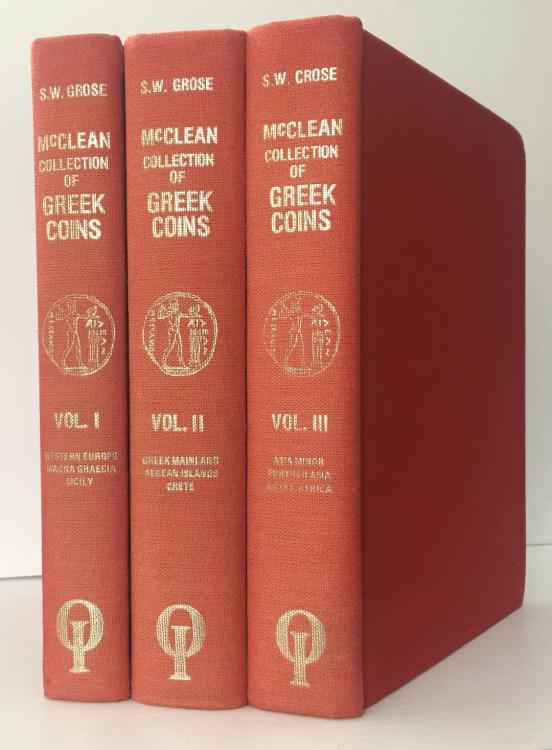 Ancient Coins - Grose: Catalogue of the McClean Collection of Greek Coins, 3 volumes, reprint