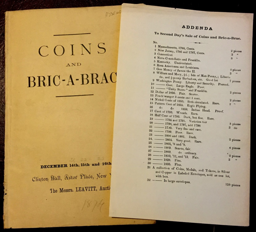 US Coins - Strobridge, William:  Lathrop Collection, With Addenda