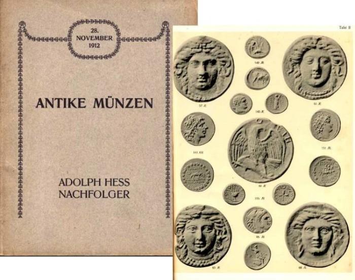 Ancient Coins - Hess 1912. Griechischen Munzen und narbarischen, pragungen, Romischen Kaisermunzen, Tesseren, Spintrien und Contorniaten