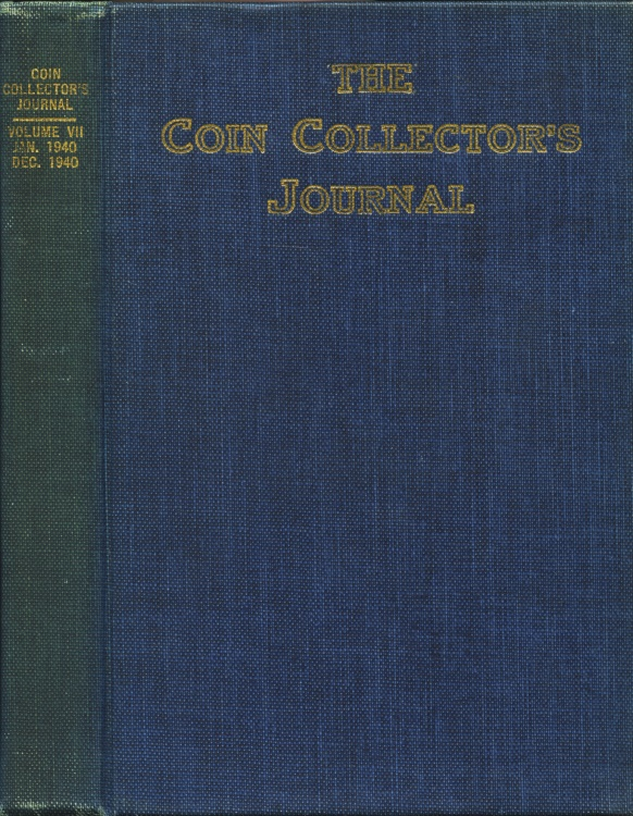 US Coins - Raymond, Wayte: The Coin Collector's Journal, Vol. VII