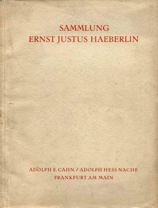Ancient Coins - Haeberlin. Cahn & Hess. Die Gold-und Silbermunzen der Romischen Republik, 1933