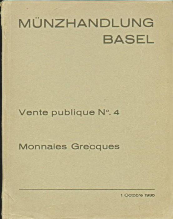 Ancient Coins - Munzhandlung Basel 4. Monnaies Grecques, 1935, Italy & Sicily