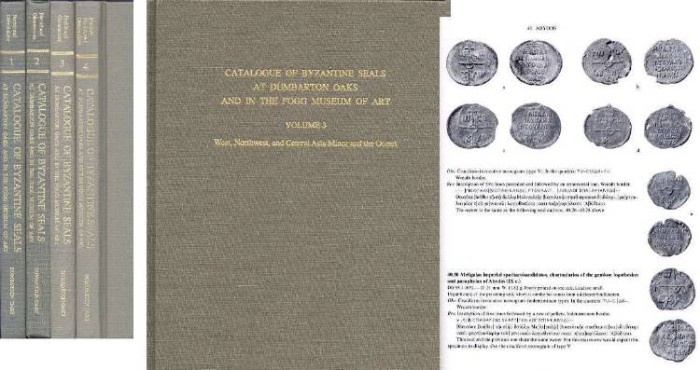 Ancient Coins - Seals Complete. CATALOGUE OF BYZANTINE SEALS AT DUMBARTON OAKS AND IN THE FOGG MUSEUM OF ART. VOLUMES 1-6 COMPLETE