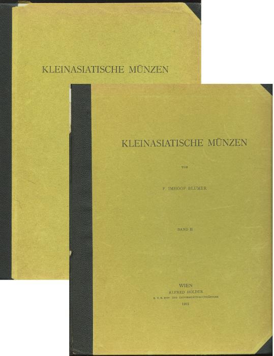 Ancient Coins - Imhoof-Blumer, Freidrich.: Kleinasiatische Münzen, 1901-1902 original edition