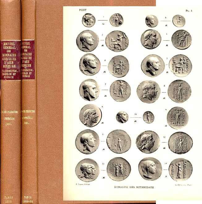 Ancient Coins - RECUEIL GENERAL DES MONNAIES GRECQUES D'ASIE MINEURE. TOME PREMIER. PREMIER FASCICULE - PONT ET PAPHLAGONIE, [and] QUATRIEME FASCICULE - PRUSA, PRUSIAS, TIUS