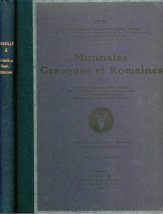 Ancient Coins - ARS CLASSICA X. CATALOGUE DE MONNAIES GRECQUES ET ROMAINES
