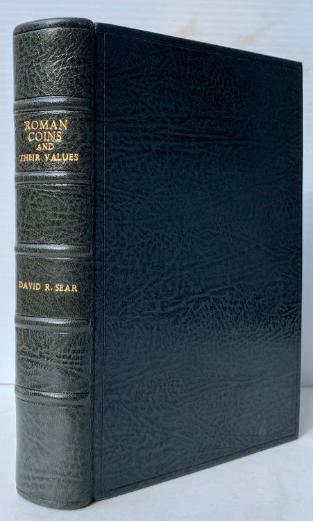 Ancient Coins - Sear: Roman Coins and Their Values III, Deluxe Leatherbound Edition, Signed by David Sear