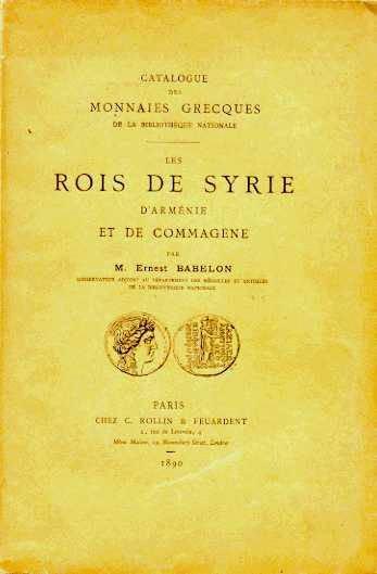 Ancient Coins - CATALOGUE DES MONNAIES GRECQUES DE LA BIBLIOTHEQUE NATIONALE. LES ROIS DE SYRIE D'ARMENIE ET DE COMMAGENE