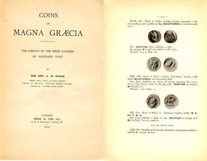 Ancient Coins - COINS OF MAGNA GRAECIA: THE COINAGE OF THE GREEK COLONIES OF SOUTHERN ITALY