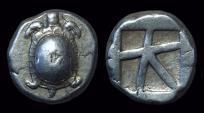 Ancient Coins - AIGINA. AR Stater (12.40g), c. 456-431 BC.