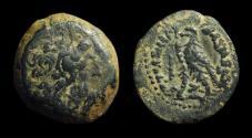 Ancient Coins - EGYPT. Ptolemy IV Philopater, 221-205 BC. Æ 15 (2.85g). smallest Tyre mint