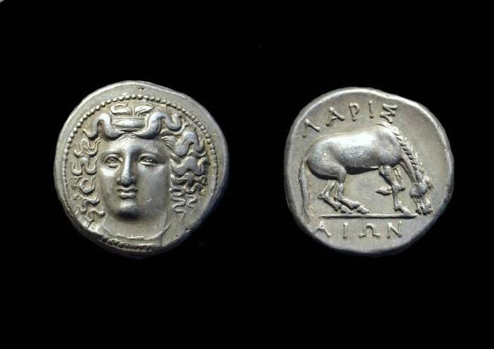 Ancient Coins - THESSALY, Larissa. AR Drachm (6.05g), c. 350-325 BC.
