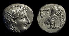 Ancient Coins - ATTICA, Athens. AR Tetradrachm (17.09g), c. 354-294 BC.