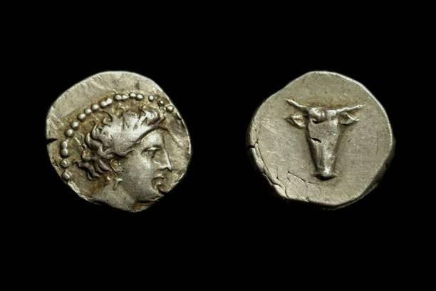 Ancient Coins - CRETE, Praisos.  AR Drachm (5.57g), late 4th c. BC.