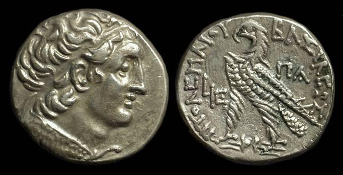 Ancient Coins - EGYPT, Ptolemy XII, 1st reign, 80-55 BC. AR Tetradrachm (13.88g).