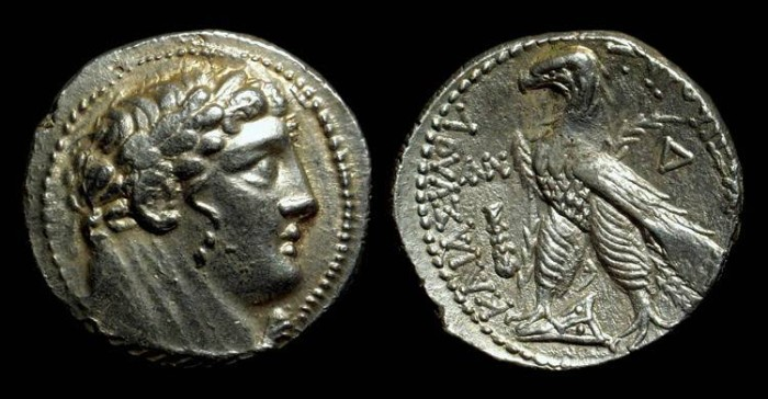 Ancient Coins - PHOENICIA, Tyre. AR Shekel (14.25g) dated to 76/75 BC.