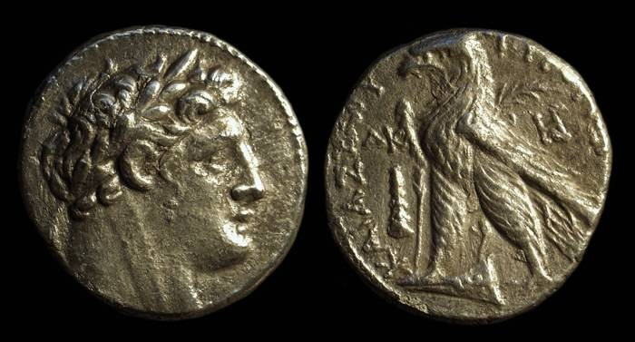 Ancient Coins - PHOENICIA, Tyre. AR Shekel (13.32g), dated Year 24 (103/102 BC).