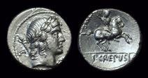 Ancient Coins - P. Crespusius, c. 82 BC. AR Denarius (4.14g).