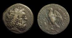 Ancient Coins - EGYPT. Ptolemy II Philadelphos, 285-246 BC. Æ 29 (17.24g). Galatian shield issue