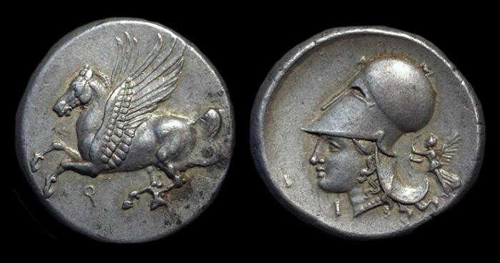Ancient Coins - CORINTHIA, Corinth. AR Stater (8.54g), c. 344-306 BC.