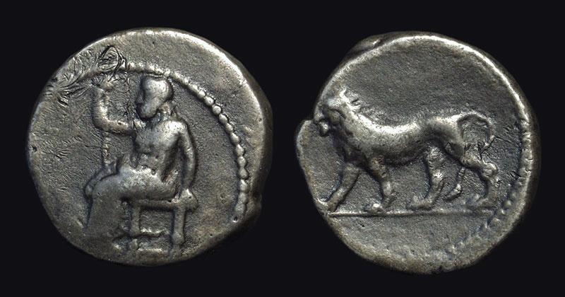 Ancient Coins - BABYLONIA, Babylon. AR Tetradrachm (14.68g), 331-328 BC.