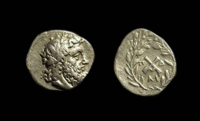 Ancient Coins - MESSENIA, Messene. AR Hemidrachm (2.25g), c. 175-168 BC.
