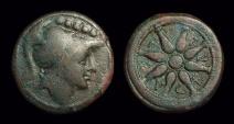 Ancient Coins - APULIA, Luceria. Æ Quincunx (15.05g), c. 211-200 BC.
