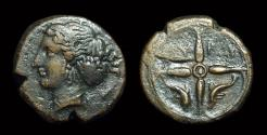 Ancient Coins - SICILY, Syracuse. Æ Hemilitron (3.52g), c. 405-400 BC.