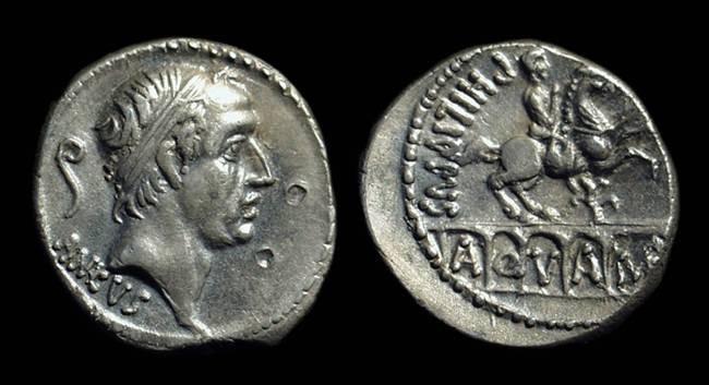 Ancient Coins - L Marcus Philippus, c. 56 BC. AR Denarius (3.82g).