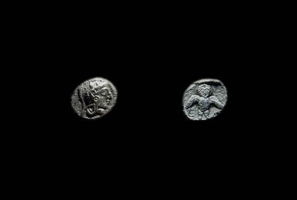 Ancient Coins - SAMARIA. AR Obol (0.84g), c. 375-333 BC.