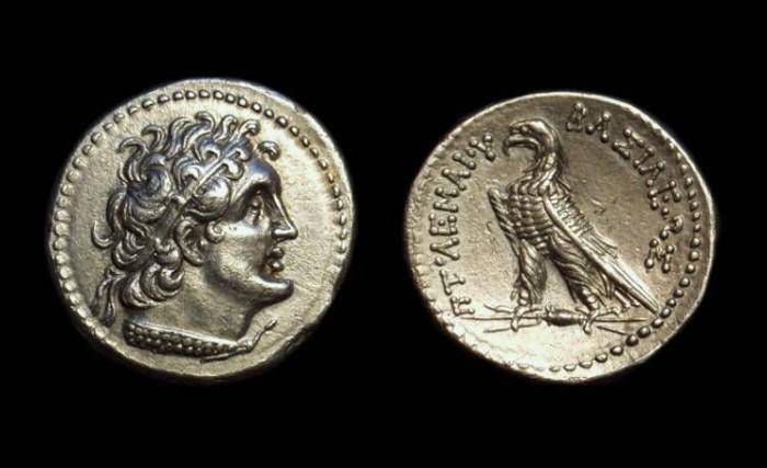 Ancient Coins - EGYPT. Ptolemy V, c. 205-180 BC. AR Didrachm (6.91g).