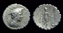 C Mamilius Limetanus, c. 82 BC. AR Serrate Denarius (4.02g).