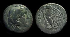 Ancient Coins - EGYPT. Ptolemy II Philadelphos, 285-246 BC. Æ 23 (11.00g). Alexander / Eagle