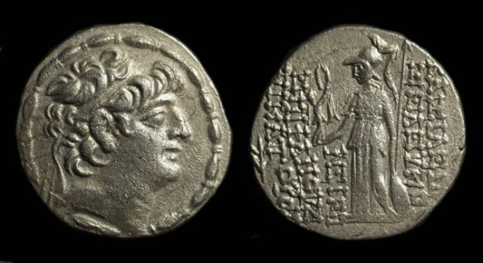 Ancient Coins - SELEUKID KINGDOM, Seleukos VI, 95-94 BC. AR Tetradrachm (15.28g).
